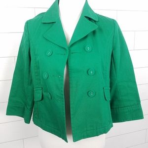 Old Navy Jackets & Coats - Old Navy Small Double Breasted Cotton Jacket Green